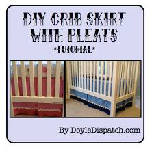 Crib Bed Skirt Measurements Diy Crib Skirts Tutorial