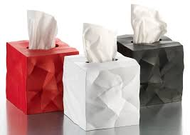 essey wipy crumpled tissue box cover the green