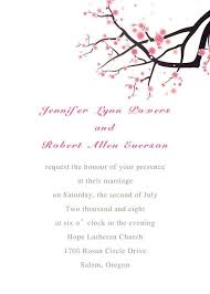 cherry blossom wedding invitations cherry blossom wedding invites with response card ewi064