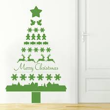 christmas tree wall decals christmas lights decoration