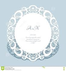 round lace frame wedding invitation template stock vector image