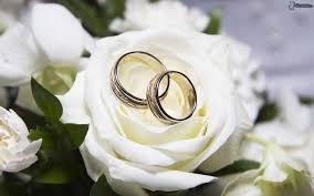 fleurs blanches mariage anneaux de mariage