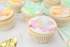 gold gilded watercolor cupcakes u2013 layer cake shop