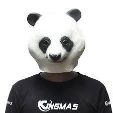amazon com kingmas halloween panda head mask party animal latex