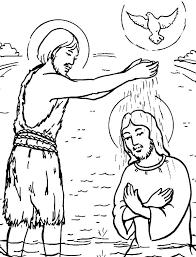 baptism jesus coloring free download