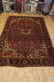 Affordable Persian Rugs Geometric Rust Heriz Runner Rug Carpet Breathtaking Discounted