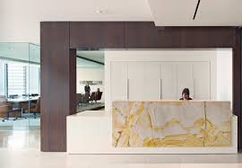 Esquire Glass Top Reception Desk Major Trends In Urban U0026 Suburban Law Firm Office Space Design