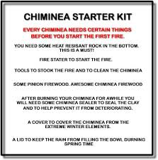 Chiminea Vs Fire Pit by Chiminea Accessories Kit