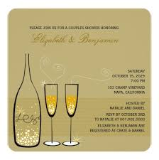 Couples Shower Champagne Bubbles Wedding Couples Shower Square Paper Invitation Card