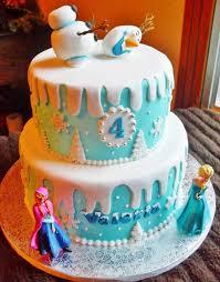 frozen birthday cake for kids blue birthday cake ideas cartoon