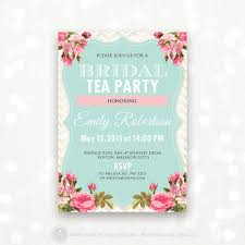 bridal tea party printable bridal shower invite bridal brunch bridal tea