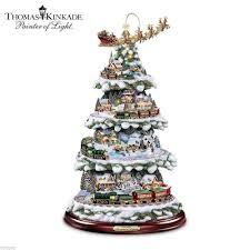 Disney Musical Christmas Tree Thomas Kinkade Wonderland Express Christmas Tree Youtube