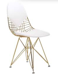 white gold office chair inspired by the peekaboo chair of grey
