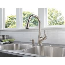 peerless p88121lf sd w choice chrome pullout spray kitchen faucets