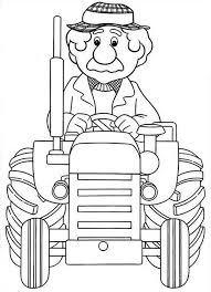 fancy alf thompson ride tractor postman pat coloring pages