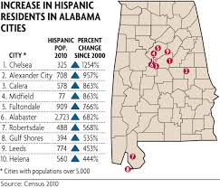 Counties In Alabama By Size Alabama Hispanic Population Growth 2nd Highest In The U S Al Com