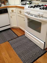 Chevron Kitchen Rug Black And White Kitchen Rug Morespoons B902fda18d65