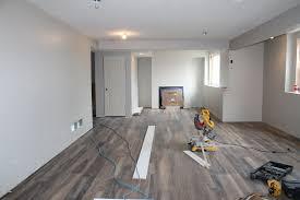 Laminate Flooring In The Basement Modern Farmhouse Basement Progress Construction2style