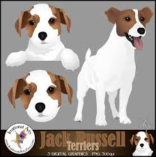 jack russell terrier clipart graphics set 1 with 3 graphics
