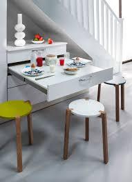cuisine avec bar pour manger meuble de cuisine avec table integree salle manger blanche ilot l