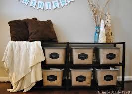 diy burlap baskets using plastic dollar store bins simple made