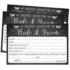 Advice To Bride And Groom Cards Amazon Com Advice Cards Advice For The Bride Wedding Advice