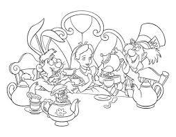 alice mad hatter white rabbit drink tea alice