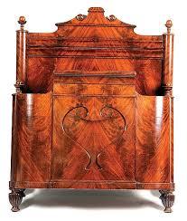 Mahogany Sleigh Bed Allpress Antiques Furniture Melbourne Victoria Australia Louis