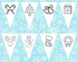 children u0027s colouring christmas images bunting ideal craft