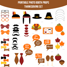 instant download thanksgiving chevron printable photo booth prop