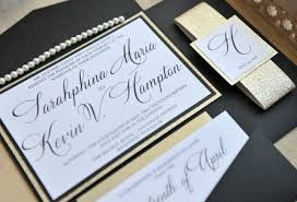 and black wedding invitations sarahphina suite glitter wedding invitation all that glitters