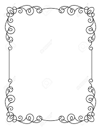 calligraphic rectangle frame simple frame ornament decorative