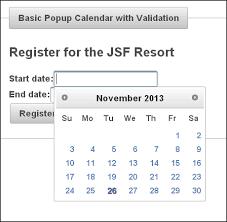 tutorial java primefaces primefaces tutorial on calendar and input elements