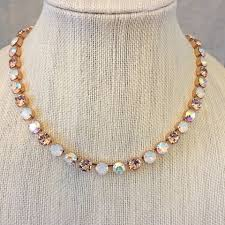 rose gold crystal necklace images Blush peach wedding jewelry collection the crystal rose bridal jpg