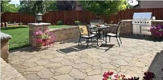 stamped concrete steps intermediate step with california weave