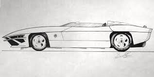 cartoon sports car black and white shear speedster