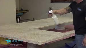 coloring concrete countertops cashmire gold youtube