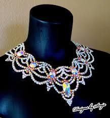 swarovski crystals necklace design images 111 best ballroom jewelry swarovski crystal necklaces images on jpg