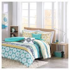 Green And Yellow Comforter Teal U0026 Yellow Aneesa Global Print Comforter Set Target