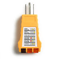 3 wire outlet tester for testing receptacle power