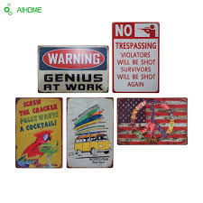 Metal Signs Home Decor Online Buy Wholesale Vintage Wall Art Metal From China Vintage