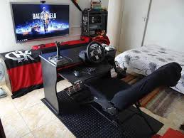 30 Coolest And Inspiring Multi Monitor Gaming Setups by Gaming Bedroom 47 Epic Video Game Room Decoration Ideas For 2017