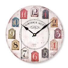 Wooden Wall Clock Wonderful Country Kitchen Wall Clocks Creative Vintage Rustic