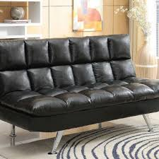Plush Leather Sofas by Shop Leather Futon On Wanelo