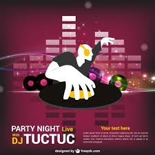 party invitation dj template vector free download