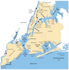 Map New York State by New York City Region Fish Advisories