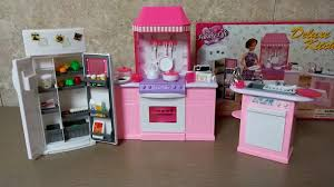 Kitchen Dollhouse Furniture by Unboxing Barbie Kitchen Set By Gloria Barbie Size Dollhouse