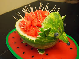 how to turn a watermelon into a hedgehog carving contest