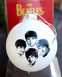 the beatles tree ornament white handcrafted