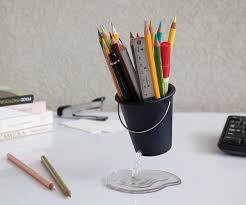Pen Organizer For Desk Pen U0026 Pencil Holder Floating Desk Bucket Organizer